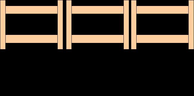 Установка металлодетекторов в ряд вплотную